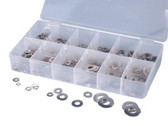 ATD Tools 360 SS Lock/Flat Washer Assortment, 350 pc.