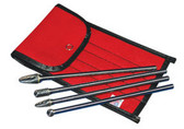 """ATD Tools 8170 6"""" Long Shanks Double Cut Carbide Burr Set, 4 pc."""