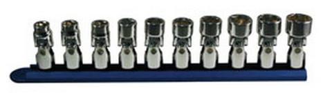 "ATD Tools 1250 3/8"" Dr. Metric 6-point Flex Socket Set, 10 pc."