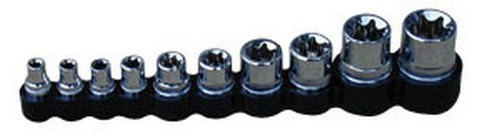 "ATD Tools 178 1/4"", 3/8"" and 1/2"" Dr. Star Socket Set, 10 pc."