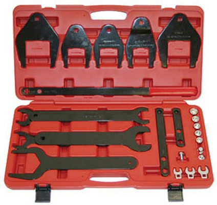 ATD Tools 8606 Fan Clutch Removing/Installing Set and Serpentine Belt Tool and Accessories, 24 pc.