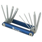Titan Tools 12705 Folding Ball End Hex Key Wrench Set