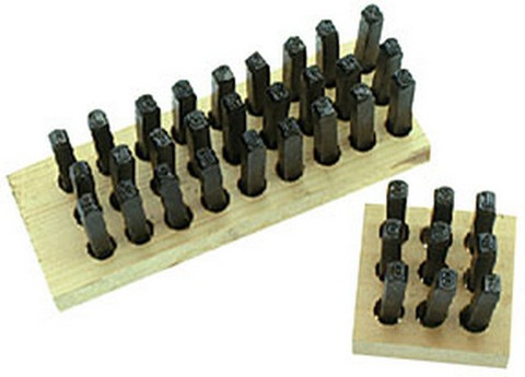 "ATD Tools 9600 3/16"" Letter Stamp Set, 27 pc."