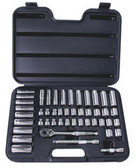"ATD Tools 1247 3/8"" Drive 12-Point Socket Set, 47 Pc"