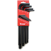 "Titan Tools 12718 Hex Key Wrench Set .050"" to 3/8"" 13pc SAE"
