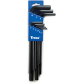 Titan Tools 12719 Hex Key Wrench Set 9pc Metric