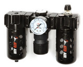 ATD Tools 7872 Poly Filter, Regulator, Lubricator and Gauge Modular Unit with Manual Drain