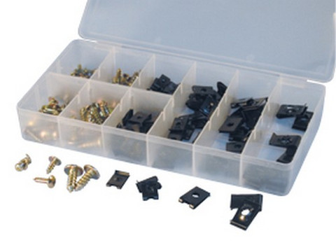 ATD Tools 348 UClip/Round Head Tap Screw Assortment, 170 pc.