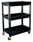 ATD Tools 7017 Heavy-Duty Plastic 3-Shelf Utility Cart