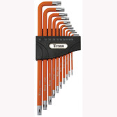 Titan Tools 12734 10pc Tamper Resistant 5-Lobe Wrench Set L-Shaped
