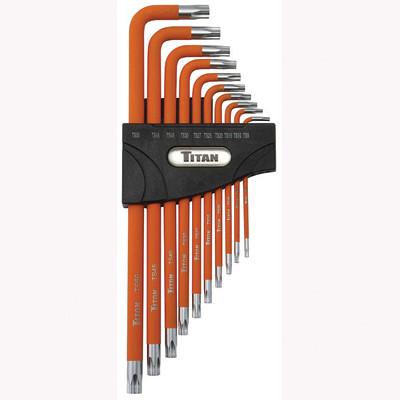 Titan Tools 12734 10pc Tamper Resistant 5-Lobe Wrench Set L-Shaped
