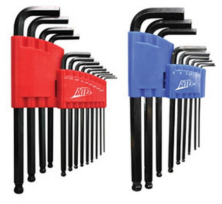 ATD Tools 580 SAE Metric Long Arm Ball End Hex Key Set, 22pc