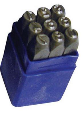 """ATD Tools 9601 3/16"""" Steel Figure Stamp Set, 9 pc."""