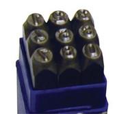 """ATD Tools 9603 1/4"""" Steel Figure Stamp Set, 9 pc."""