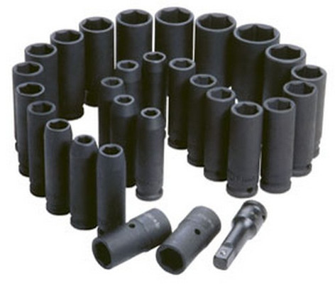 "ATD Tools 4901 1/2"" Dr. SAE & Metric Deep Impact Socket Set, 29 pc."