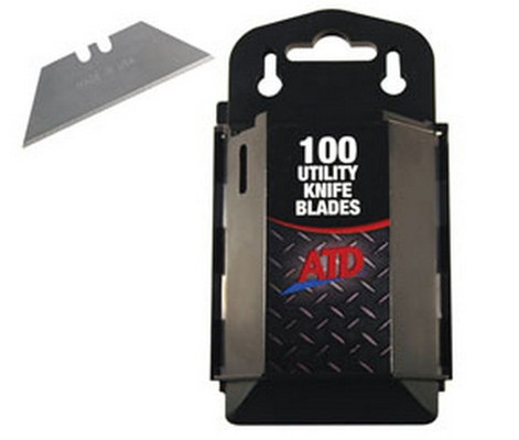 ATD Tools 8813 Utility Knife Blades with Dispenser, 100 pack