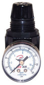 "ATD Tools 7841 Mini 1/4"" NPT Air Regulator with Gauge, 25 SCFM"