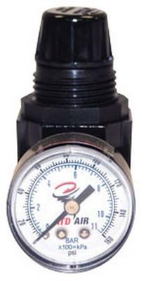 "ATD Tools 7841 Mini 1/4"" NPT Air Regulator with Gauge, 25 SCFM"