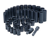 "ATD Tools 4601 3/8"" Dr. 6-Point SAE and Metric Standard and Deep Impact Socket Set, 42 pc."