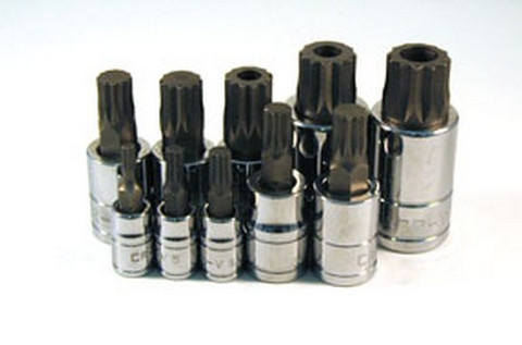 ATD Tools 13782 Triple Square Spline Bit Socket Set, 10 pc.