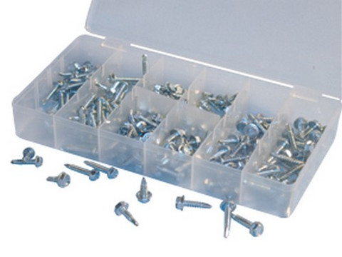 ATD Tools 349 Hex Head Screw Assortment, 200 pc.