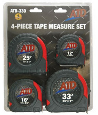 ATD Tools 330 Tape Measure Set, 4pc