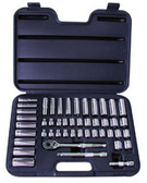 "ATD Tools 1245 3/8"" Dr 6-Point SAE/Metric Socket Set, 47 pc"