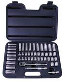 "ATD Tools 1245 3/8"" Dr 6-Point SAE/Metric Socket Set, 47 pc"