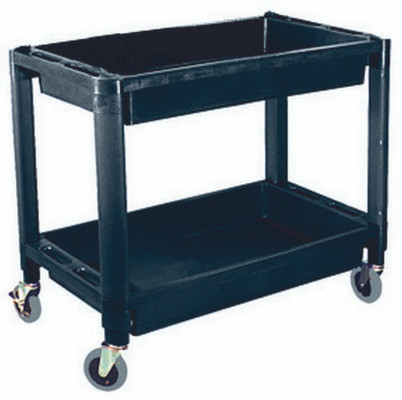 ATD Tools 7016 Heavy-Duty Plastic 2-Shelf Utility Cart