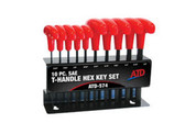 ATD Tools 574 T-Handle Hex Key Set, SAE, 10pc