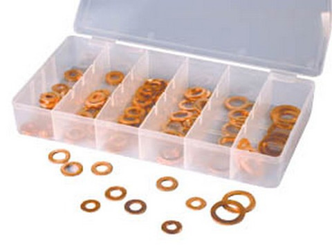 ATD Tools 359 Copper Washer Assortment, 100 pc.