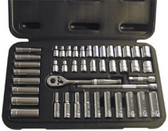 "ATD Tools 1200 SAE/Metric 1/4"" Dr. Socket Set, 44 pc"