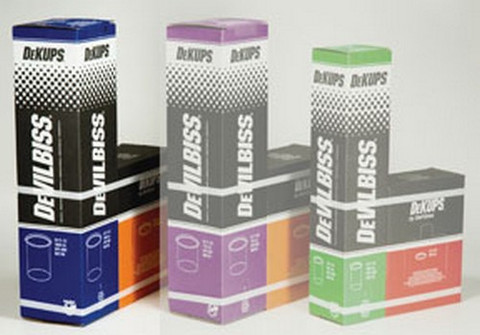 DeVilbiss DPC600 DeKups® 34 Fl. Oz./1000 ml Disposable Cups and Lids, 32 count