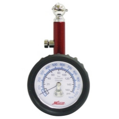 Milton S-933 Dial Tire Gauge, 0-160 PSI - 5 lb increments