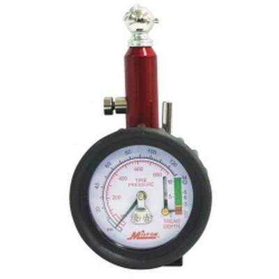 Milton S-934 Dial Tire Gauge, 0-120 PSI - 2 lb increments