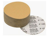 "Mirka Abrasives 23-379-400 Gold 6"" PSA Autobox Discs, 100/Box, 400-Grit"