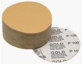 """Mirka Abrasives 23-379-120 Gold 6"""" PSA Autobox Discs, 100/Box, 120-Grit"""
