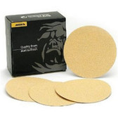 "Mirka Abrasives 23-332-120 5"" Bulldog Gold (No-Hole) 120 Grit PSA Sanding Discs 100/Box"