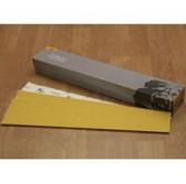 "Mirka Abrasives 23-364-080  23 Series Gold 2-3/4"" X 16-1/2"" PSA Sheet, P80-Grit, E-Weight Backing"