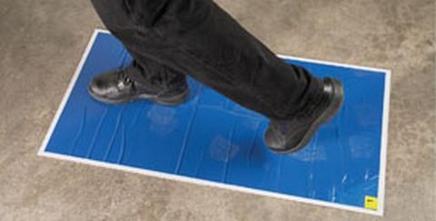 """RBL Products 367 Spray Booth / Mixing Room Walk-On Tacky Mats Reusable Base W/18"""" X 36"""" Mats Pad (30 Mats/Pad)"""