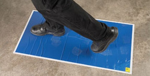 "RBL Products 365 Spray Booth / Mixing Room Walk-On Tacky Mats 18"" X 36"" Replacement Pad (30 Mats/Pad )"
