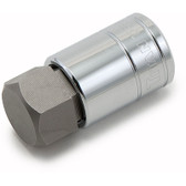 "Titan Tools 15668 Hex Bit Socket 1/2"" Drive 7/8"" Chrome"