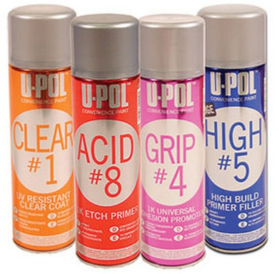 U-POL Products UP0856 Convenience Aerosol Four Pack