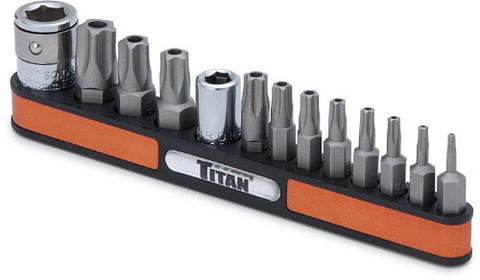 Titan Tools 16137 13pc Star Tamper Resistant Bit Socket Set