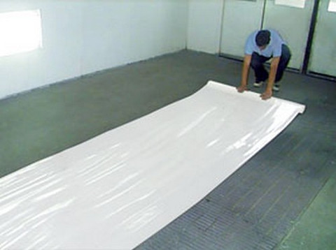"RBL Products 454 48"" X 200' Roll Self-Adhering, Heavy-Duty White Plastic For  Concrete Floors"