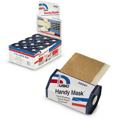 U. S. Chemical & Plastics 38081 Handy Mask Tape & Paper With Dispenser 12/Display Box