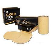 "U. S. Chemical & Plastics 82319 6"" PSA P800 Gold Paper Flat, Velcro Disc"
