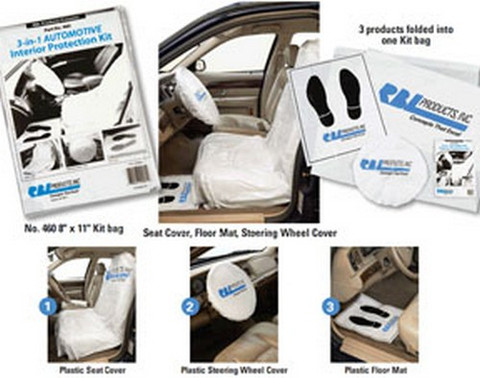 RBL Products 460 3-In-1 Kit, Seat Cover, Floor Mat, Steering Wheel Cover