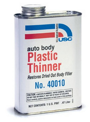 "U. S. Chemical & Plastics 40010 Auto Body Plastic Thinner, ""Honey"""