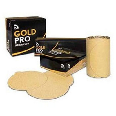 """U. S. Chemical & Plastics 82308 6"""" PSA P120 Gold Paper Flat"""